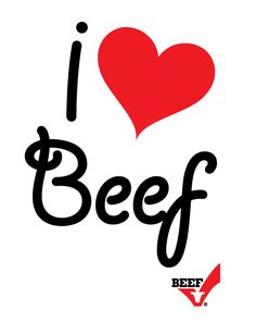 Happy 'I <3 BEEF' month! In this month of romance, #beef is the preferred choice of Americans (62 percent) because nothing says LOVE like a great steak dinner for Valentine's Day (or any day)!