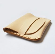 100% Hand-stitched Natural Vegetable Tanned Leather Card Case(VM105)