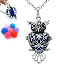 Buy Charms Aromatherapy Jewelry Antique Silver Owl Heart Locket Essential Oil Diffuser Pendant Chain Necklace - and others fashion jewelry perfect for women online with big discount. Essential Oil Diffuser, Essential Oils, Antique Silver, Antique Jewelry, Aromatherapy Jewelry, Diffuser Necklace, Heart Locket, Belly Button Rings, Fashion Jewelry