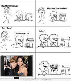 Lesbian porn. LOL