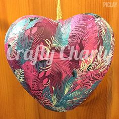 *NEW* 12x10cm puffed hanging peacock Decopatch heart! Available now £7 inc postage! #craftycharly #barnsley #decopatch #newmakes #madeinyorkshire  #CCC
