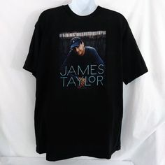 59a244398840b James Taylor T-shirt Concert Music 2009 Down Home Tour Folk Rock Country  Large