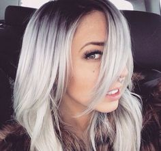 totally in love with this white  blonde hair with the ash balayage!