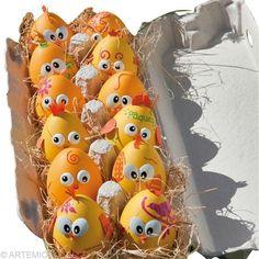 Oeufs de Pâques Poussin jaune - Idées et conseils Pâques