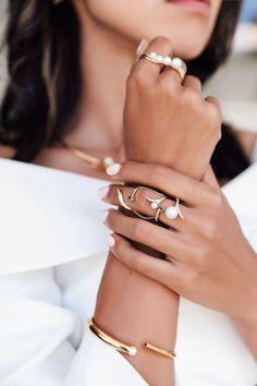 Layered Pearl Rings