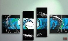 Modern Art, Living Room Wall Decor, 4 Piece Canvas Painting, Abstract – Art Painting Canvas Buy Abstract Painting, Sale Artwork, Hand Painting Art, Extra Large Art, Abstract Painting, Painting, Abstract Wall Art, Canvas Art Painting, Canvas Painting