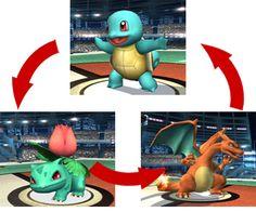 Pokemon trainer using Charizard, Squirtle and Ilysaur in brawl Super Smash Bros Brawl, Wii Games, Charizard, Nintendo Wii, Sonic The Hedgehog, Trainers, Video Games, Pokemon, Anime