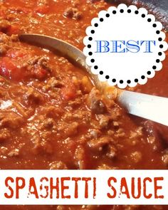 BEST Spaghetti Sauce recipe I've ever made!