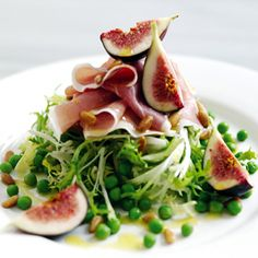 #summer pea, pine nut, prosciutto and #fig #salad