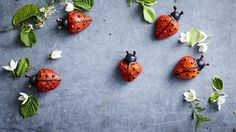 Lady Bug, Party Sandwiches, Creative Food Art, Kids Menu, Woodland Party, Cute Food, Puddings, Easy, Brunch