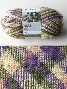 Color pooling   Novita knits Opi Colors, Yarn Colors, Baby Knitting Patterns, Crochet Patterns, Pooling Crochet, Tunisian Crochet Stitches, Knit Art, Manta Crochet, Japanese Patterns