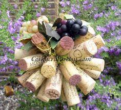 Vineyard wedding kissing ball/ flower girl by Corkycrafts on Etsy, $12.00