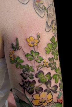 Tags        tattoos      tattoo      flowertattoo      flower      floral      esthergarcia      butterfatstudios      botanical      blossom      wood sorrel      edible plant      oxalis