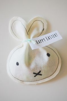 Everything Emily: DIY // Miffy Inspired Sewn Easter Treat Bags Would be cute to add to a classroom goodie bag! #FoPRR