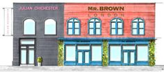An artist's rendering shows a High Point building that furniture source Mr. Brown is renovating as a showroom. Julian Chichester is a sister company.