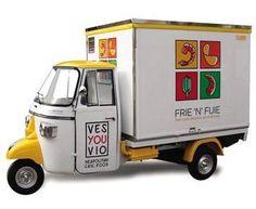 Ape Piaggio Frie 'n' Fuie www.vsveicolispeciali.com #vsveicolispeciali #veicolispeciali #apepiaggio #fiat500 #streetfood #torino #foodtruck #trailers #cibodistrada #rimorchio