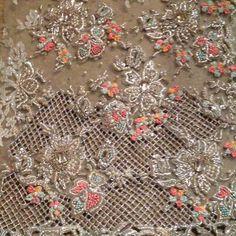 Embroidery Zardosi Embroidery, Tambour Embroidery, Hand Work Embroidery, Couture Embroidery, Embroidery Motifs, Types Of Embroidery, Embroidery Suits, Embroidery Fashion, Hand Embroidery Designs
