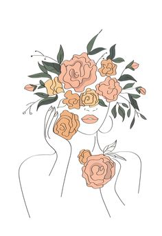 women kadın women drawing Sticker by Bedia Outline Art, Abstract Line Art, Abstract Portrait, Art Drawings Sketches, Minimalist Art, Art Inspo, Art Projects, Canvas Art, Art Prints