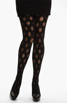 Pretty Polly 'House of Holland Reverse Polka Dot' Tights available at #Nordstrom