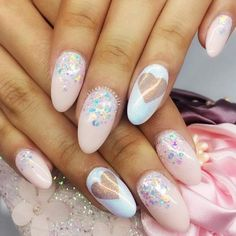 Beautiful Valentines Day Nail Arts Picture 4 day nails oval 45 So-Pretty Nail Art Designs For Valentine's Day Winter Nails, Summer Nails, Nails Ideias, Hair And Nails, My Nails, Jolie Nail Art, Valentine's Day Nail Designs, Pretty Nail Art, Nagel Gel