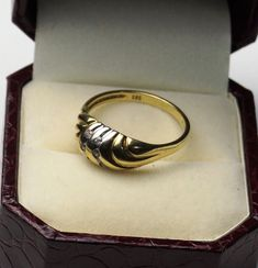 14ct Gold 585, Dress Ring, Size P, 2.98g
