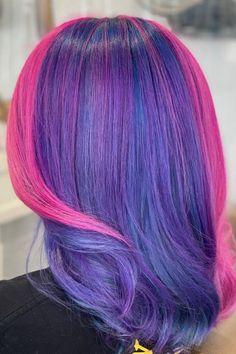 @lizzvargashair used Purple Rain and Virgin Pink #AFpurplerain #AFvirginpink Cute Hairstyles For Teens, Teen Hairstyles, Purple Rain, Pink Purple, Arctic Fox Hair Dye, Wine Hair, Semi Permanent Hair Dye, How To Lighten Hair, Color Melting