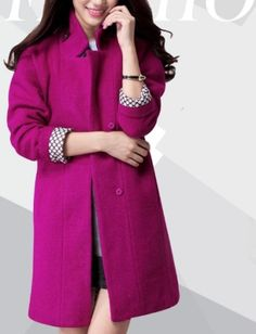 Women's Fuschia  Coat