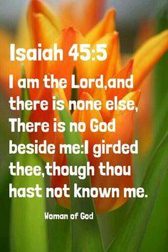 Isaiah 45:5 KJV