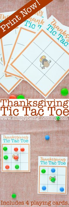 If you think a game of Tic Tac Toe is fun, then you'll love playing a game of Thanksgiving Tic Tac Toe. Winner gets the candy! #thanksgivingtictactoe #thanksgivingprintables #thanksgivinggames #tictactoe via @simplymommy