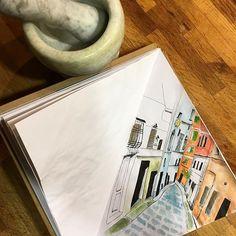 Genova - Salita San Siro #genova #genoa #zena #caruggi #italy #italygram #italytrip #italiancity #liguria #illustration #illustrator #illustrationart #watercolor #watercolorillustration #watercolorsketch #sketchbook #sketching #italianillustrator #sketchbookproject #italianlovers