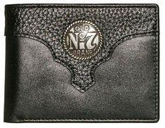 Jack Daniels Old #7 Black Leather Billfold Wallet