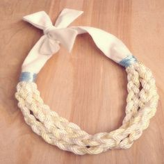 Vintage Pastel Rope Fabric Necklace by CountryMermaids on Etsy