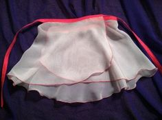 """The Chiffon Wrap skirt (light pink with hot pink edging) by """"Dance Me"""" Boutique at dancemeboutique.com"""