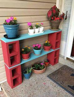 Potted plants shelf