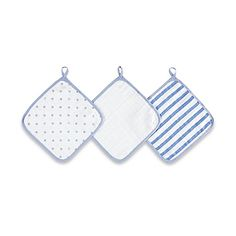 image of aden® by aden + anais® 3-Pack Washcloth Set in Dashing