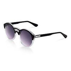 ad12fb0184c98 Óculos de Sol Redondo Feminino Acetato Preto Oculos De Sol Redondo, Preto,  Feminino