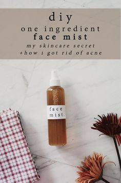 diy one ingredient face mist using green tea.This changed my skin ,helped a lot with acne scarring and bumpy skin texture