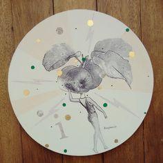 """"""" I de imaginación sin limites """" pieza única . Ilustrada a mano #Himallineishon #art #illustration"""