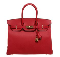 Exquisite Birkin bag in Rouge Casaque: see our full collection!  #baghunter