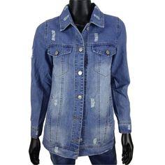 Oversized spijkerjack met scheuren van Inplus Denim  30-  Online: www.dannyschoice.nl  En in de winkel: #Beverwijk   #fashion #jack