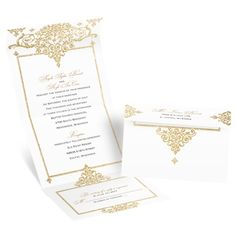 Best of Friends Seal and Send Wedding Invitation - Gold Faux Glitter at Invitations By Dawn