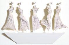 Paper skin dresses -  Anna Korver