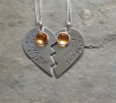 You are my sunshine mother daughter necklace set Stuff by Stacie - Ontario Mother Daughter Necklace, Jewelry Accessories, Unique Jewelry, You Are My Sunshine, Sterling Silver Necklaces, Necklace Set, Friendship Bracelets, Jewels, Bffs
