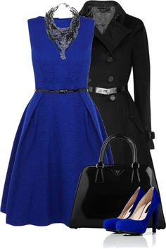 """Devil in a Blue Dress (I)"" by partywithgatsby on Polyvore"