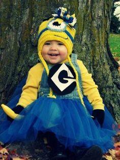 Minion, Baby, Costume, Halloween, Holiday