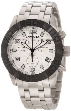 291f809748 Invicta Mens 11453 Pro Diver Chronograph Silver Textured Dial Stainless  Steel Watch     Check this awesome product by going to the link at the  image.