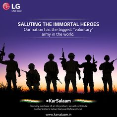 Our brave soldiers should be thanked for safeguarding us day & night. #KarSalaam this #RepublicDay by sending them wishes. www.karsalaam.in