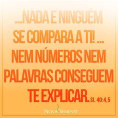 Nova Semente - Frases da Bíblia - Versículos -Deus - Salmos 40:4,5