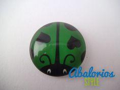 Cabuchon Mariquita Verde (CB083)