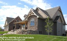 Architectural Designs House Plan 16807WG built in South Dakota with modifications. 3 beds, 2.5 baths and around 1,700 square feet as designed. Ready when you are. Where do YOU want to build?